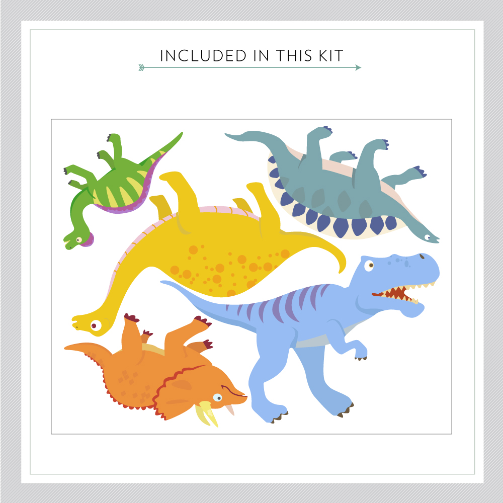 Dino Adventures Printed Wall Decal