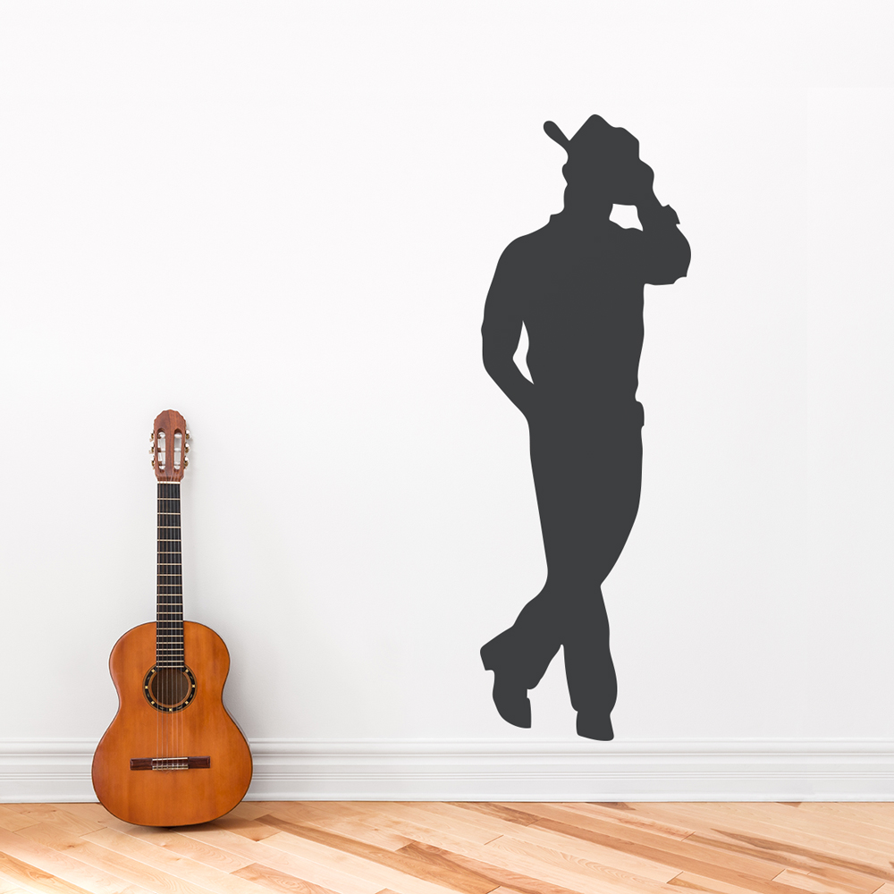& Cowboy Wall Decal | Cowboy Wall Decor | Wallums