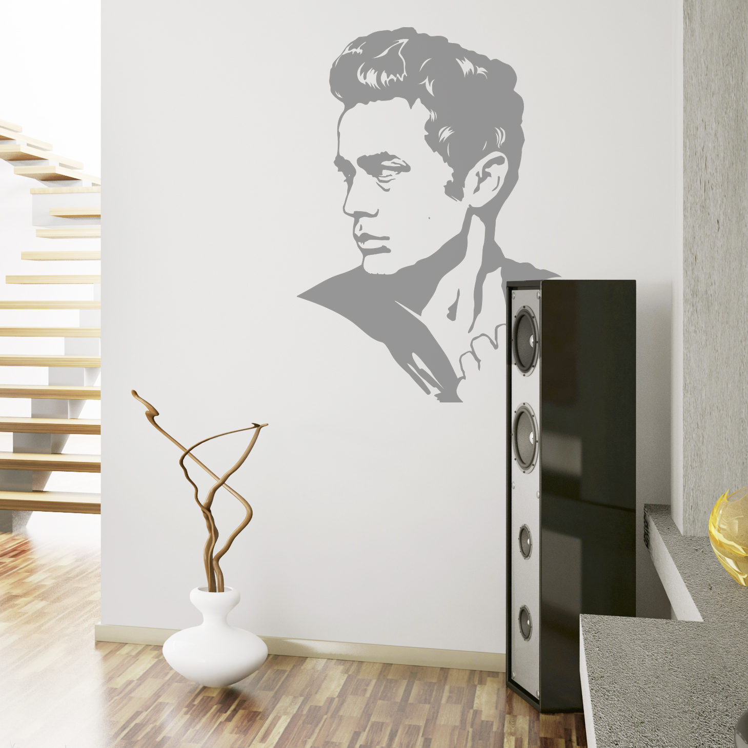 26JL-JamesDean-2-wall-decal.jpg & James Dean Wall Decal