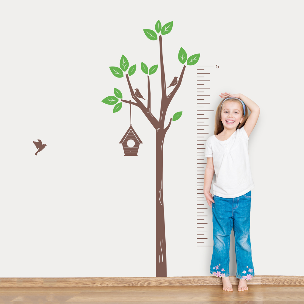 Tree growth chart wall decal growth chart decal wallums