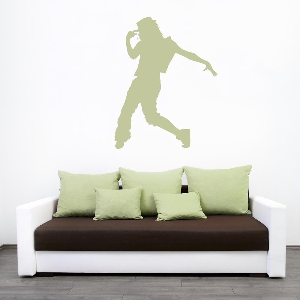 Female Hip Hop Dancer Wall Decal