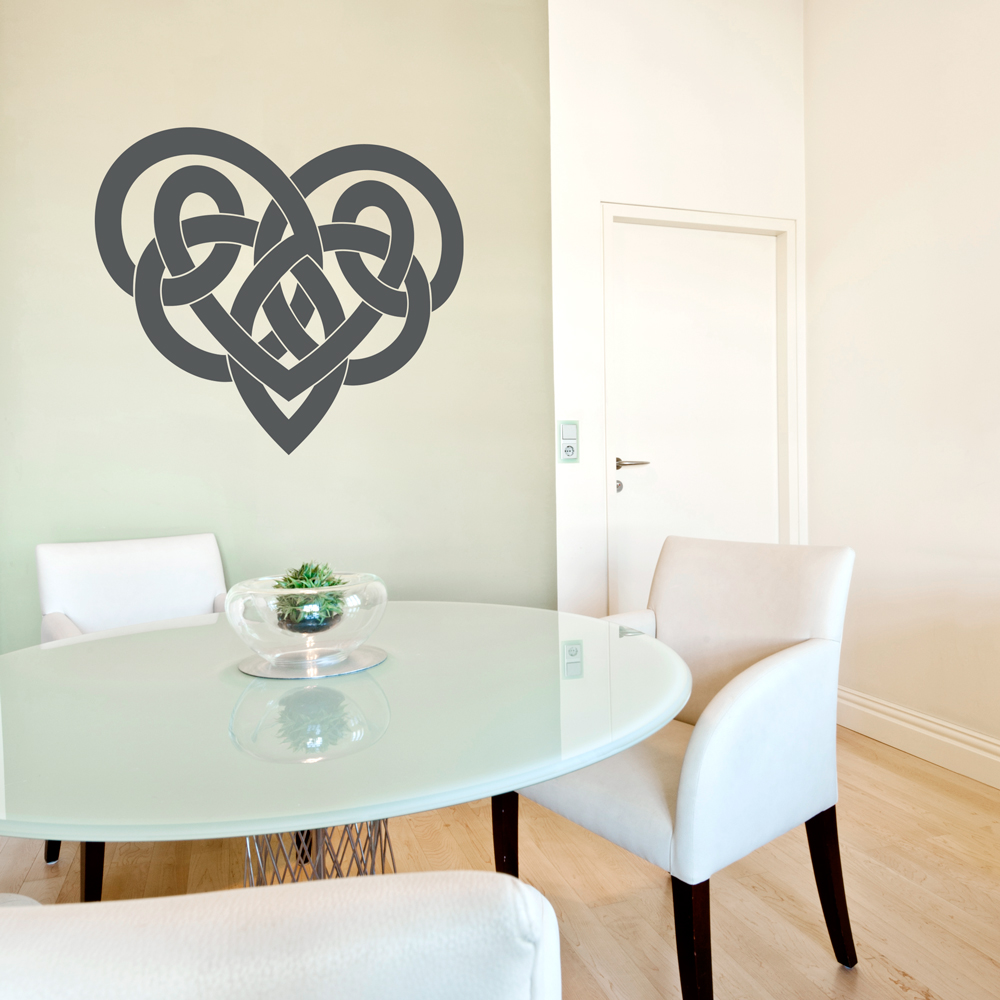 & Celtic Heart Wall Decal | Celtic Wall Decor | Wallums