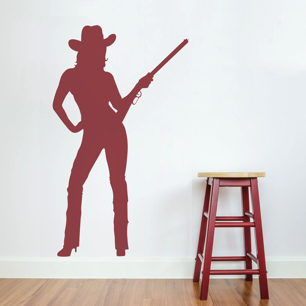 & Cowgirl Wall Art Decal