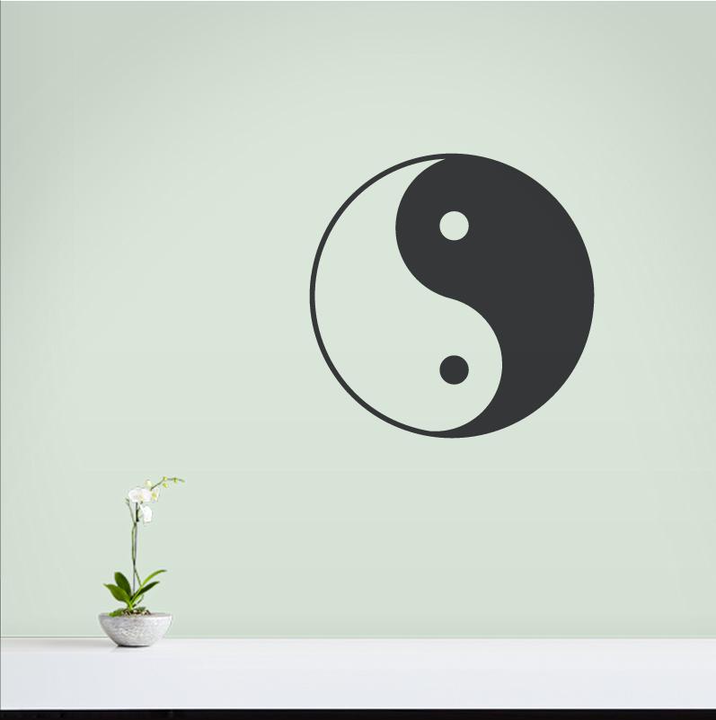 0c8ecc992b Yin Yang Wall Decal   Removable Yin Yang Wall Sticker