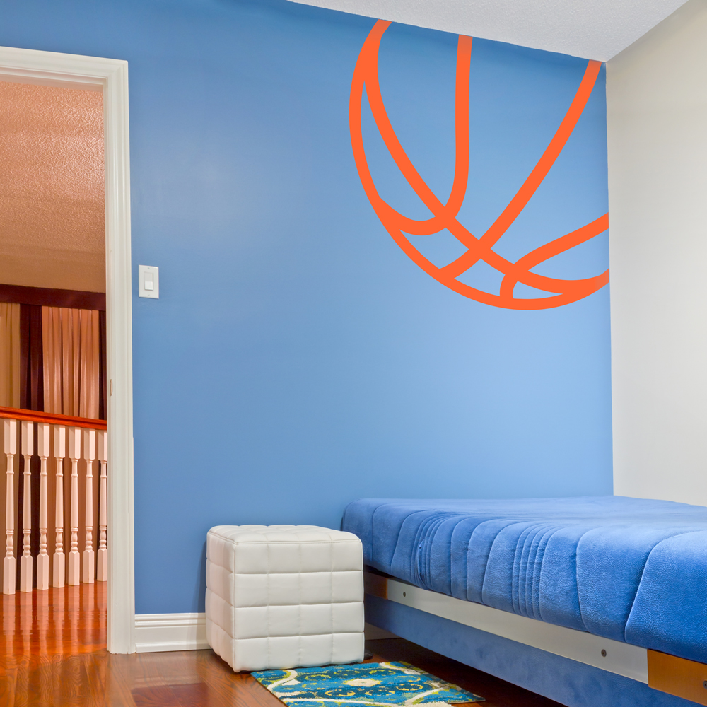 Beautiful Corner Basketball Wall Decal | Basketball Wall Sticker | Wallums