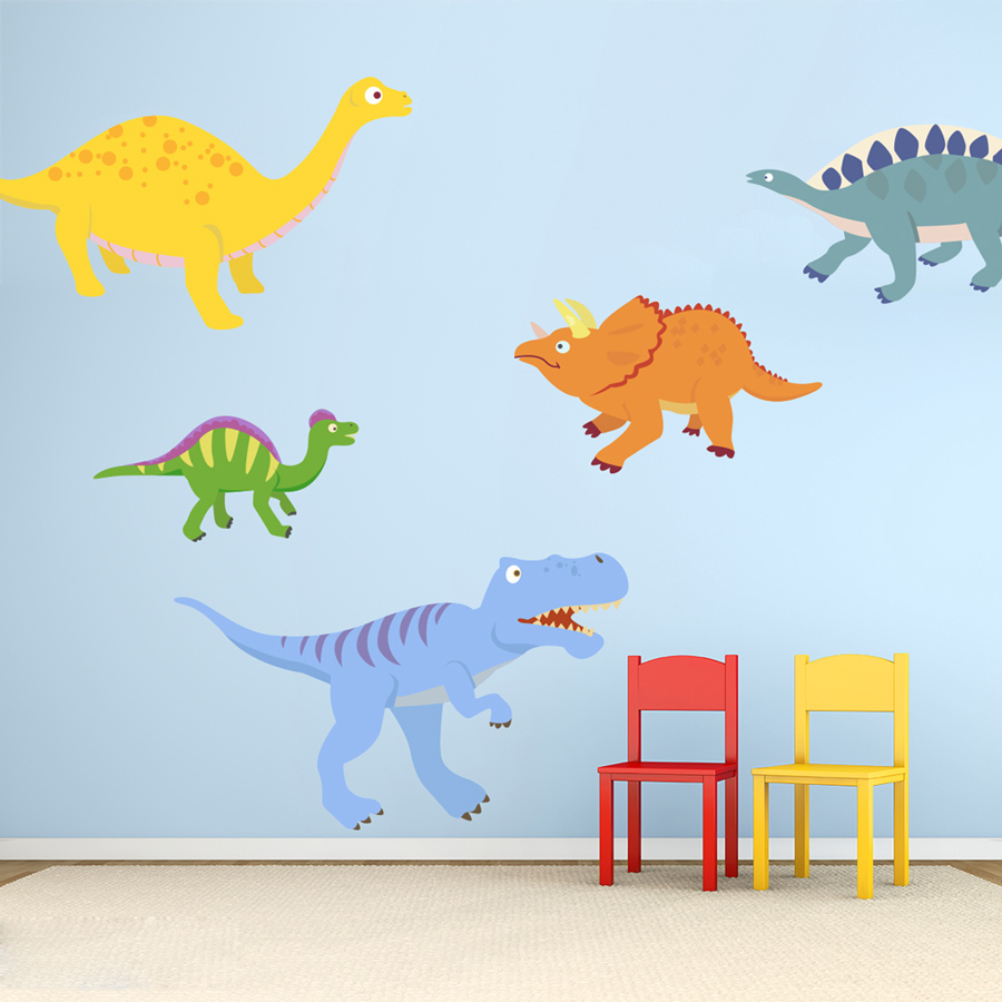 Dinosaurs Printed Wall Decal Large Dino Adventures Decal ...