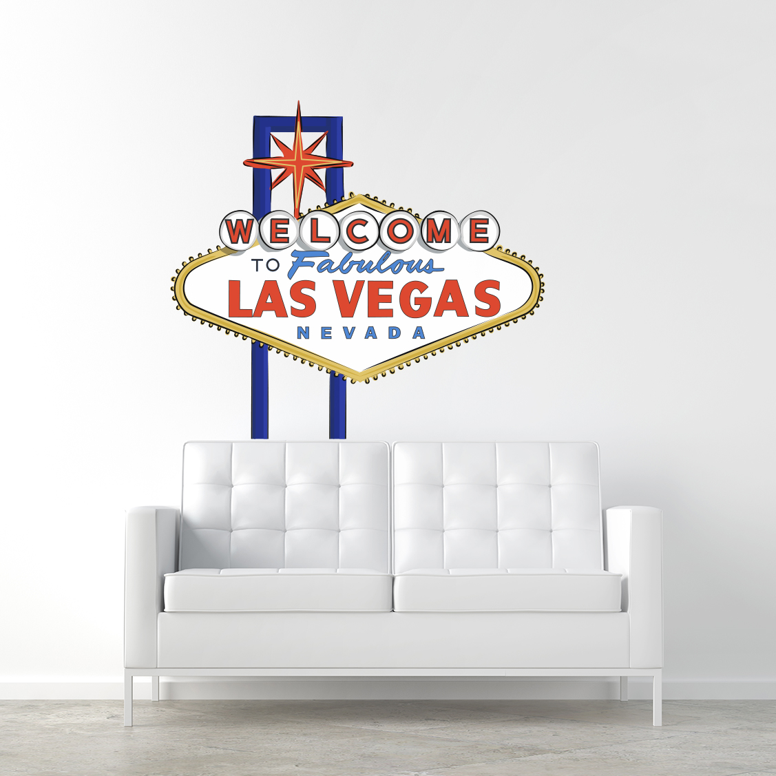 Welcome To Fabulous Las Vegas Printed Wall Decal - Custom vinyl decals las vegas