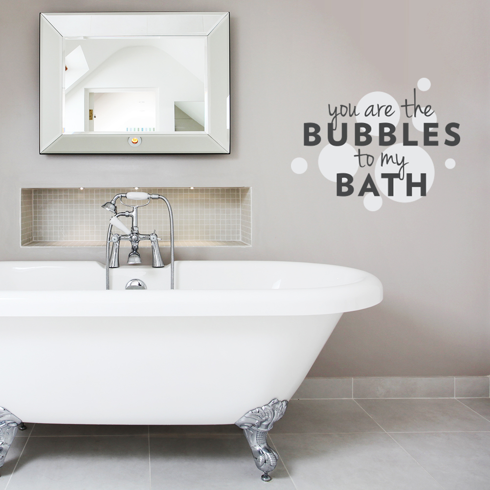 You Are The Bubbles To My Bath Wall Decal Quote | Wallums