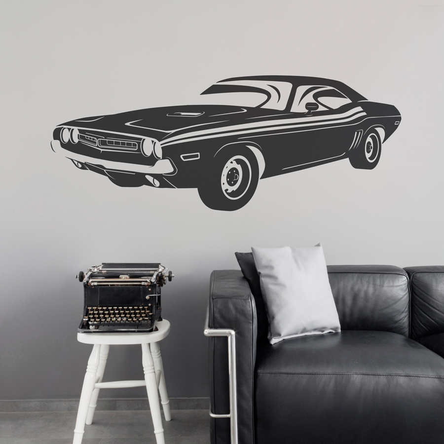 U002769 Dodge Challenger Wall Decal | Classic Car Wall Decals