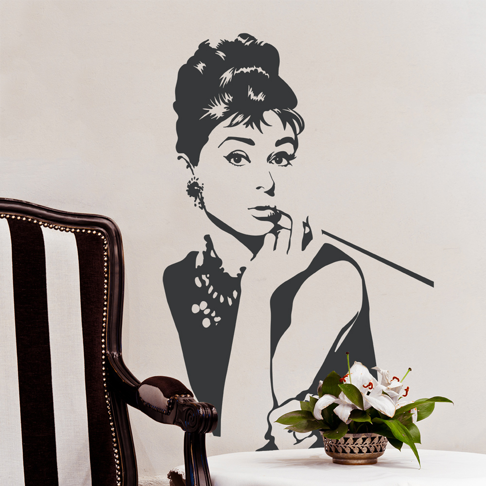 Awesome Audrey Hepburn Wall Decal | Audrey Hepburn Wall Decor