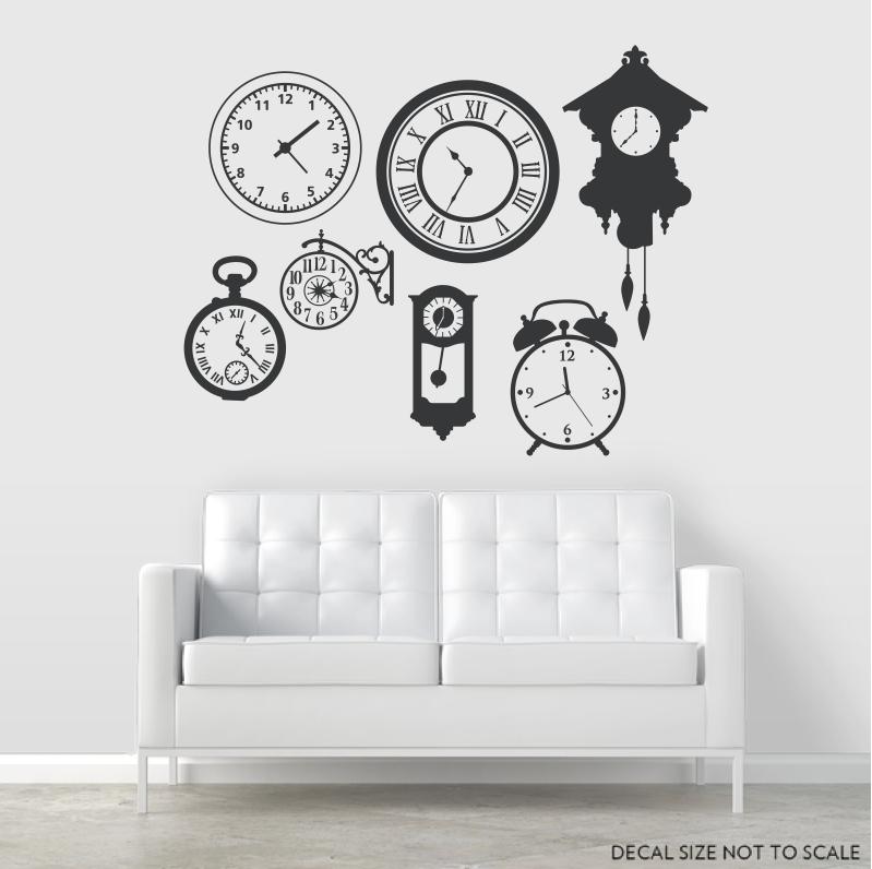 clock wall decals | clock wall stickers | wallums