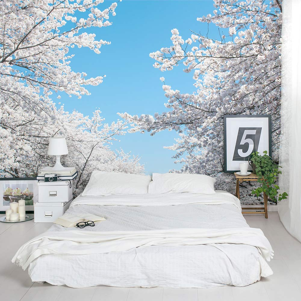 White Cherry Blossom Wall Decal Cherry Blossom Tree Wall