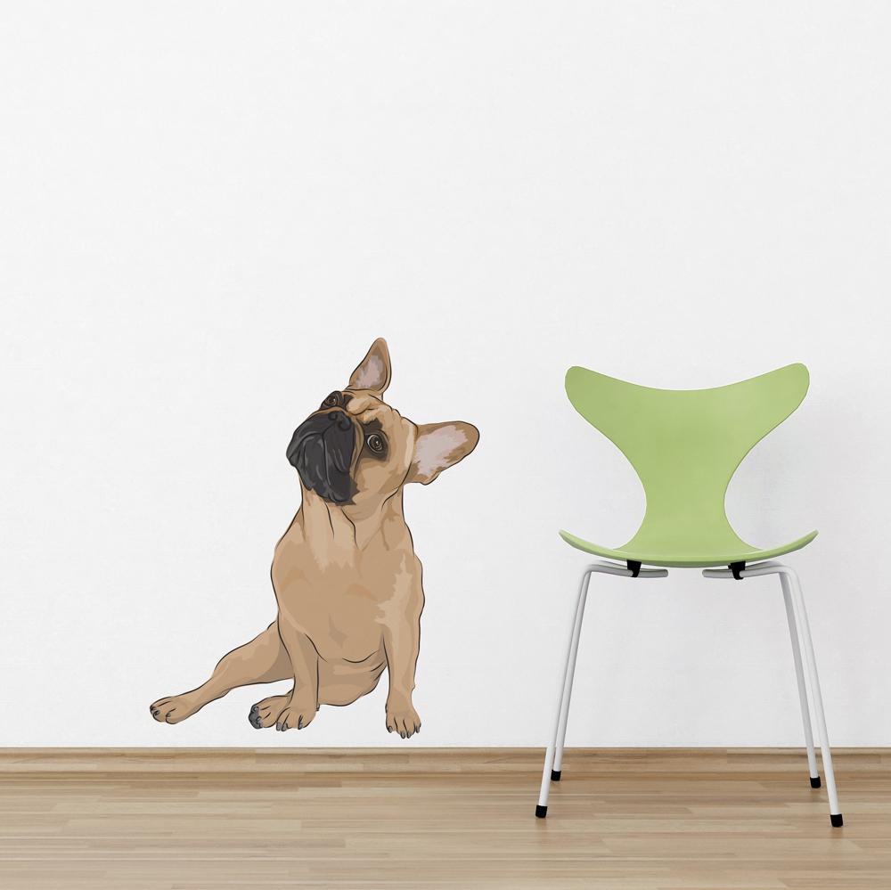 & Frank - French Bulldog Printed Wall Decal