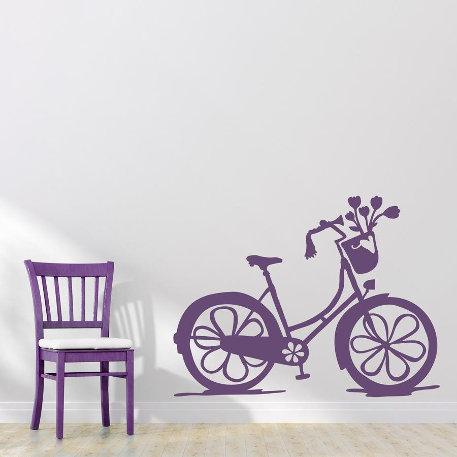 Girls Bike Wall Decal