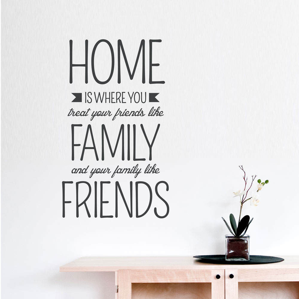 Home Is WhereWall Quote Decal