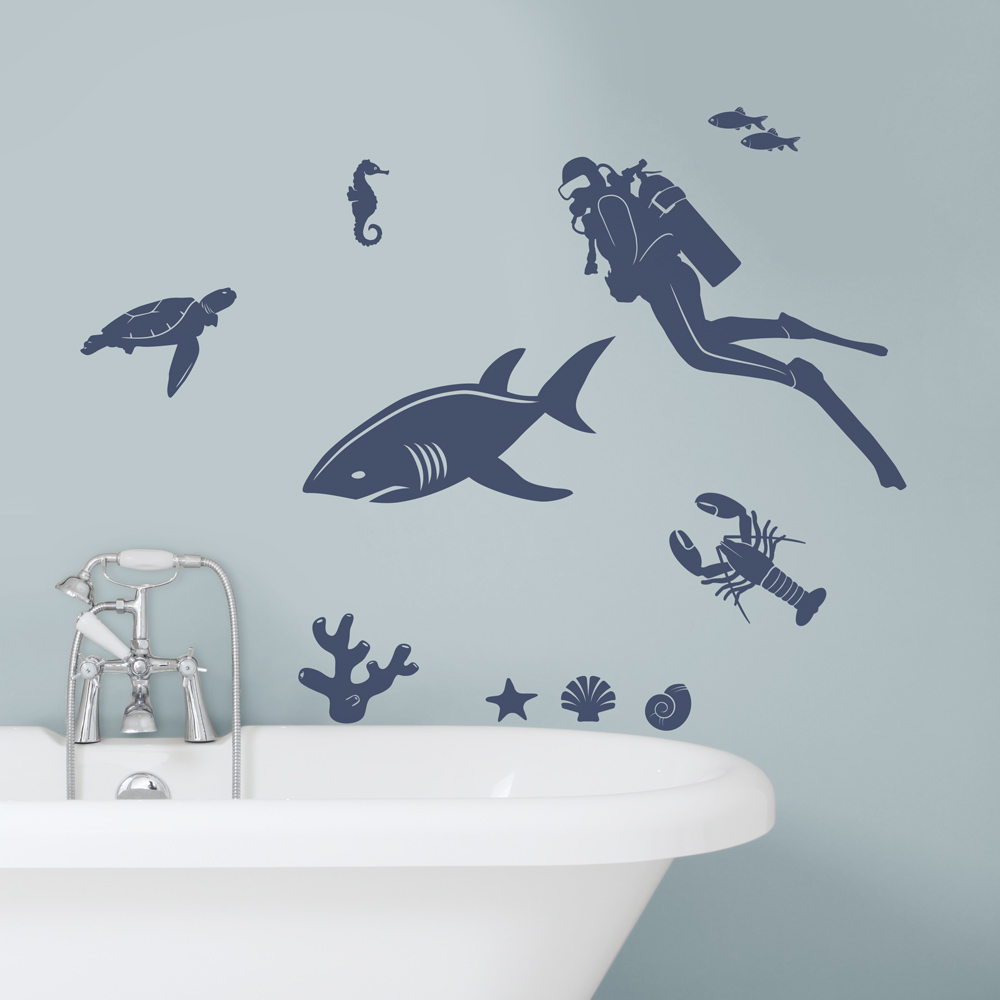 Marine Life Wall Decal - Underwater wall decals