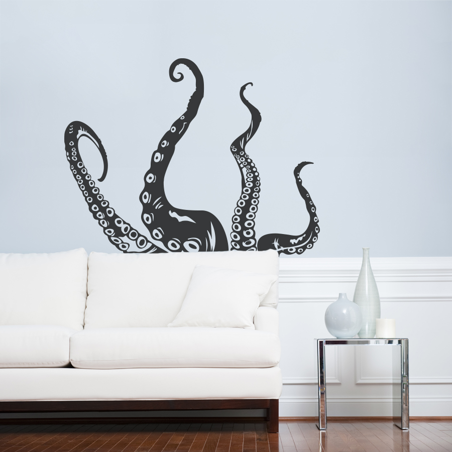 Marvelous Tentacle Wall Decal | Octopus Wall Art | Wallums