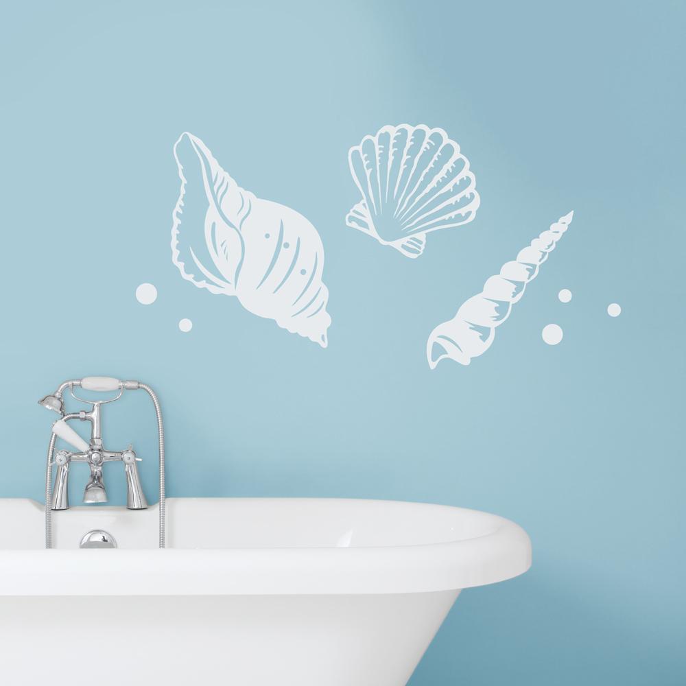 Great Seashell Wall Decals   Seashell Wall Stickers   Wallums