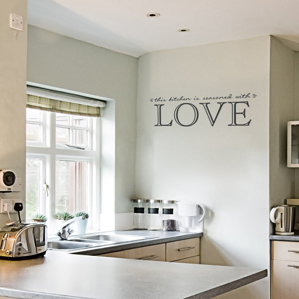 This Kitchen is Seasoned with Love Wall Quote Decal