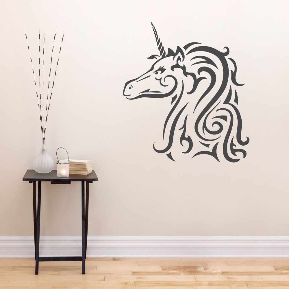 Lovely Tribal Unicorn Wall Art Decal