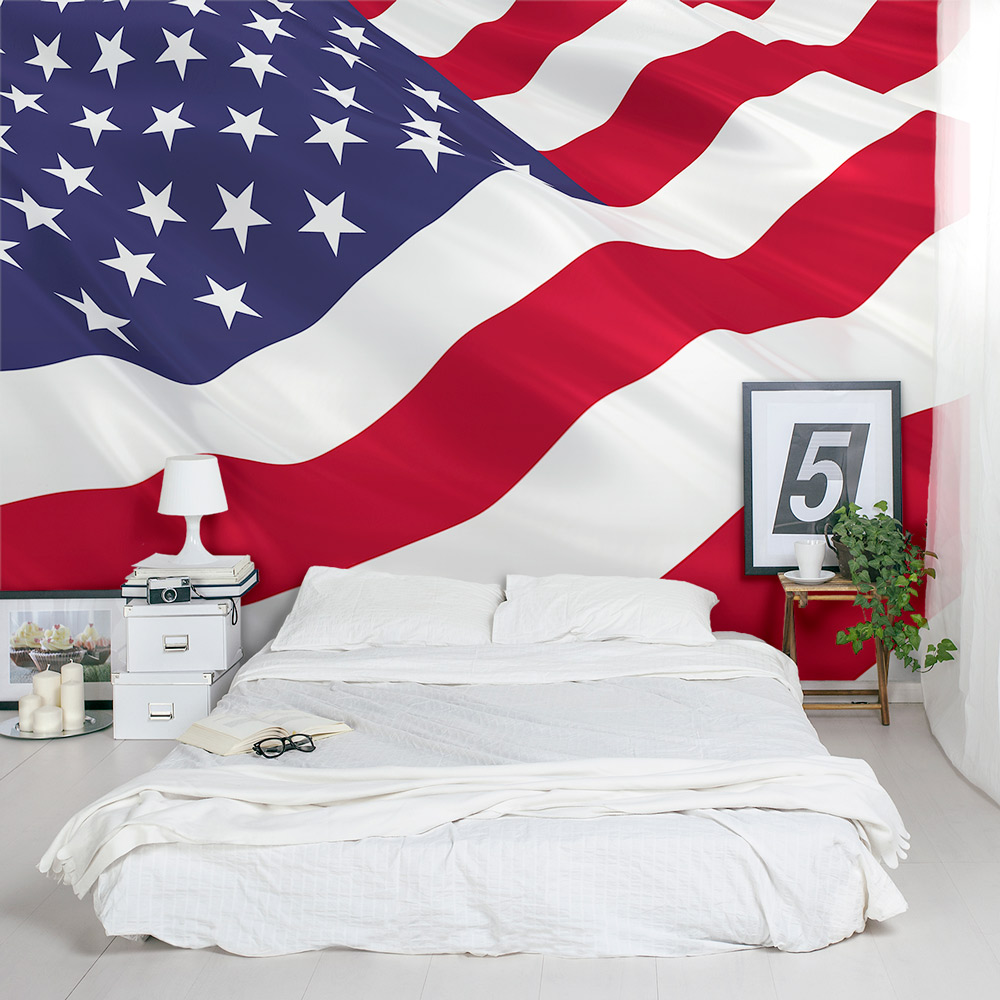 American Flag Wall Decal American Flag Wall Mural