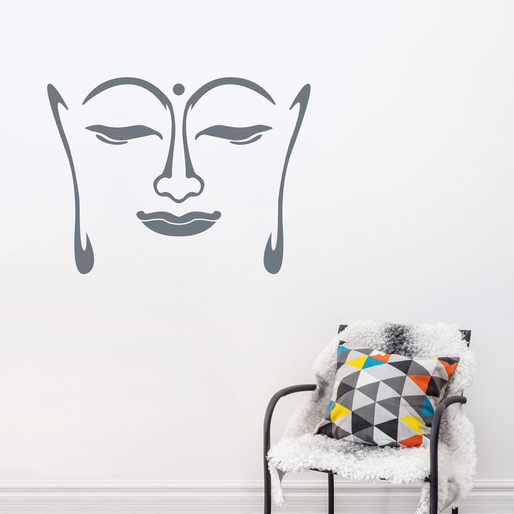 Buddha Face Wall Decal | Buddha Wall Sticker | Wallums