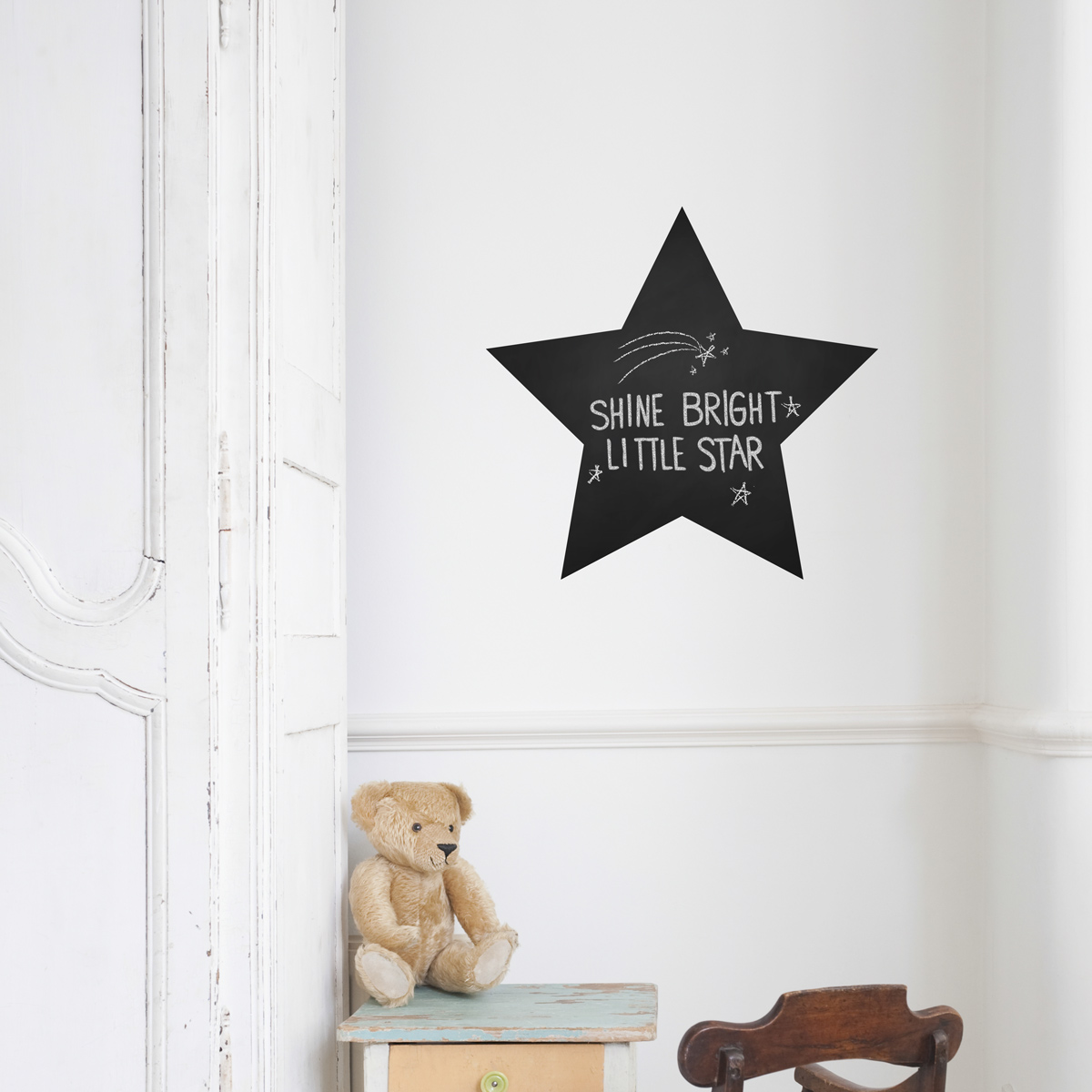& Large Star Chalkboard Wall Decal