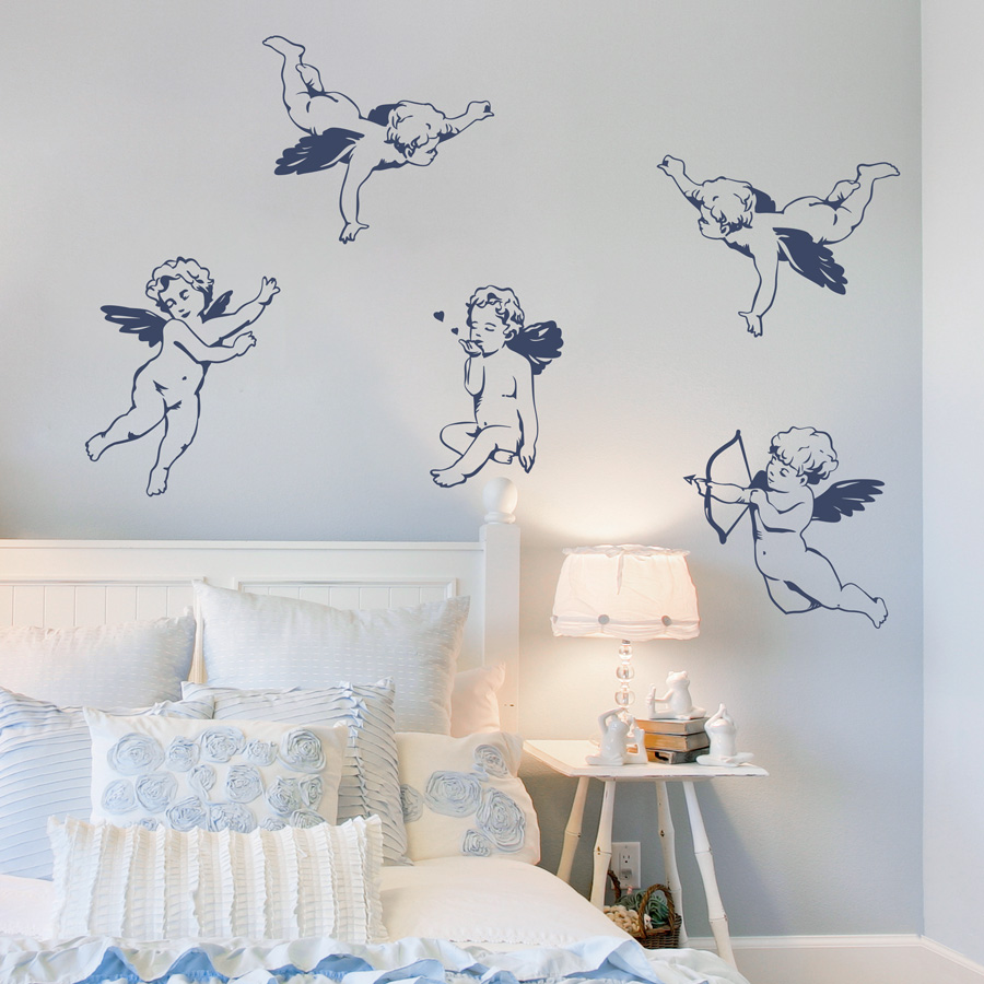 sc 1 st  Wallums & Cherubs Wall Decal