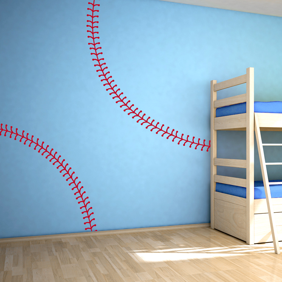 Baseball Stitching Wall Decal