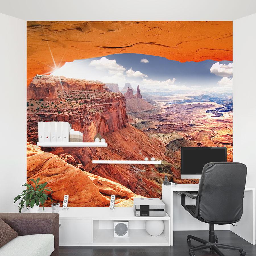 Desert Valley Landscape Wall Mural Sticker By Wallums