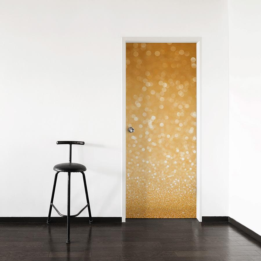 & Gold Glitter Door Mural