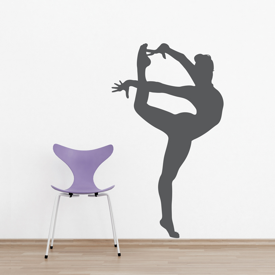 Gymnast Silhouette Wall Decal