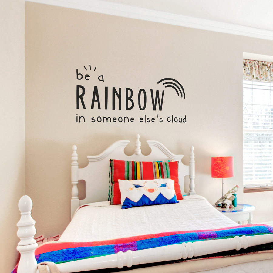 sc 1 st  Wallums & Be a Rainbow Wall Quote Decal