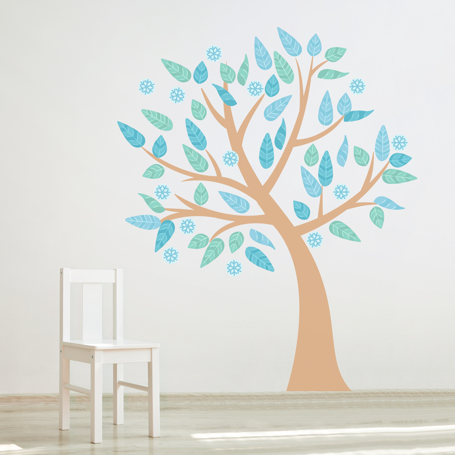 Four Season Tree Printed Wall Decal