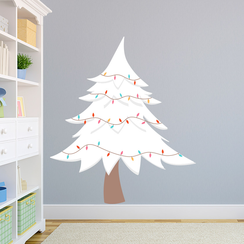 white christmas tree wall decal | christmas tree wall sticker