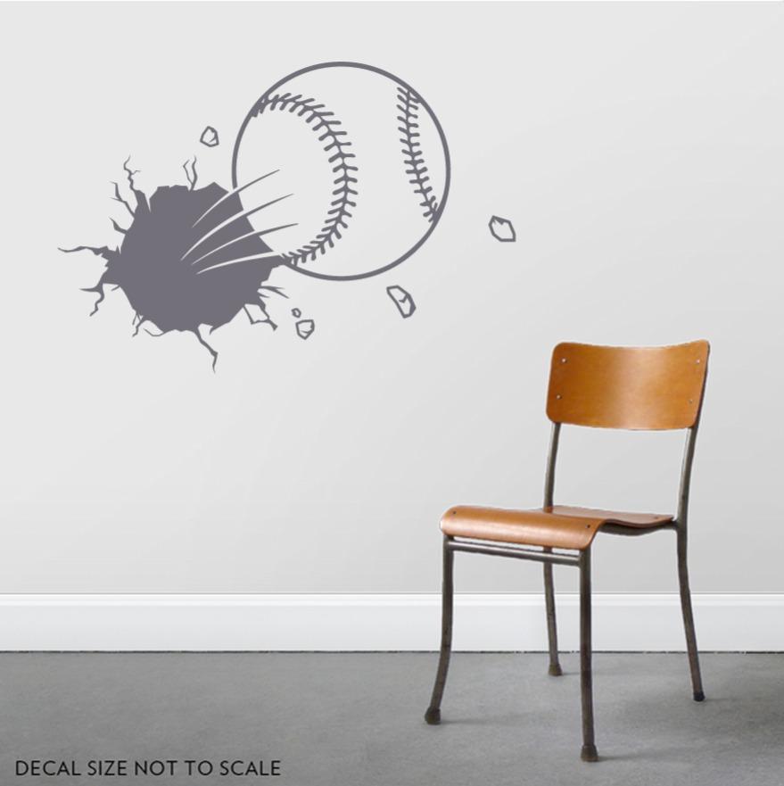 Bursting Baseball Wall Decal