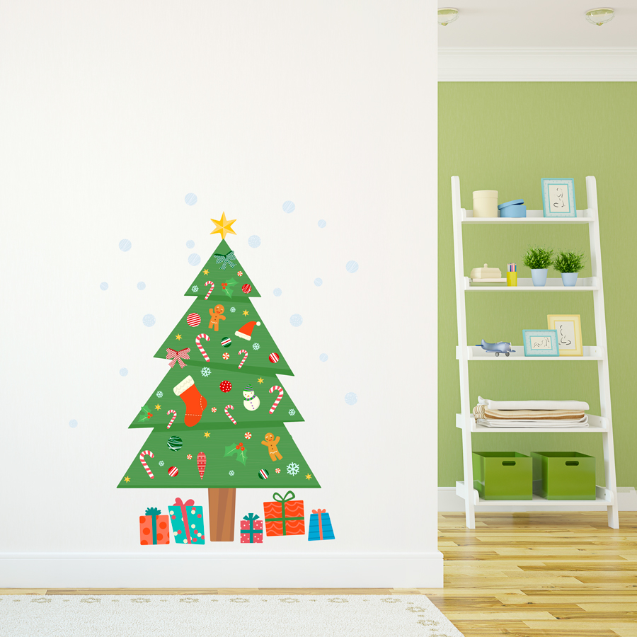 Christmas Tree Printed Wall Decal