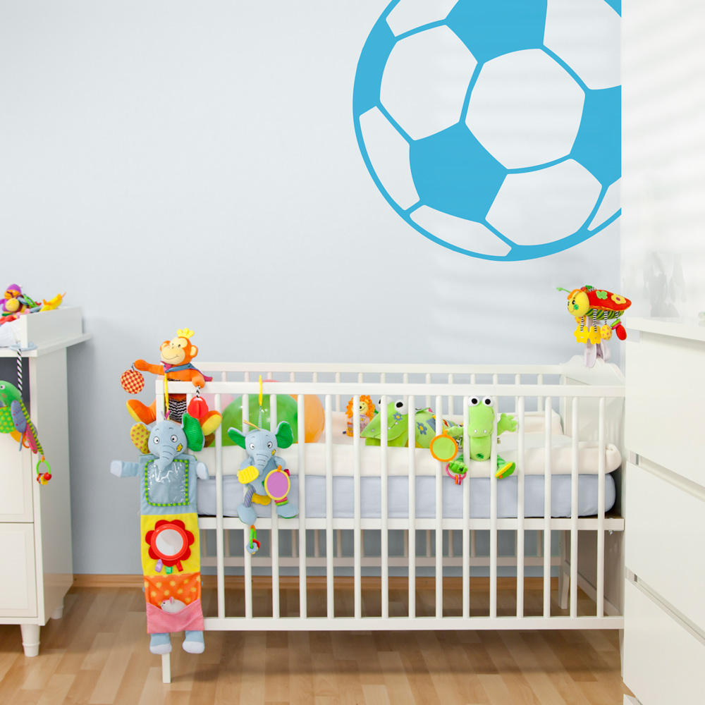 Captivating Corner Soccer Ball Wall Decal | Soccer Ball Wall Sticker