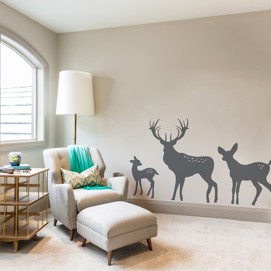 Deer Family Wall Decal