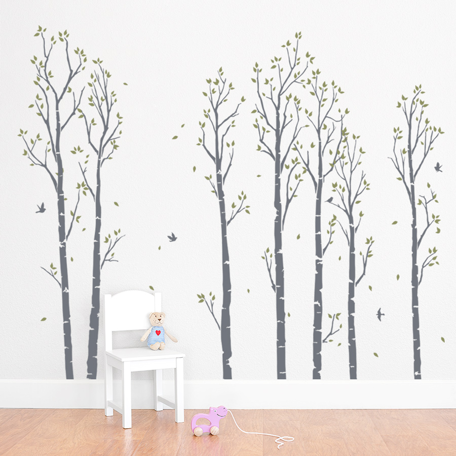 Superb Wall Decals :: Trees :: Young Birch Forest Wall Decal   Wallums Wall Decor    Wall Decals, Murals, And Prints