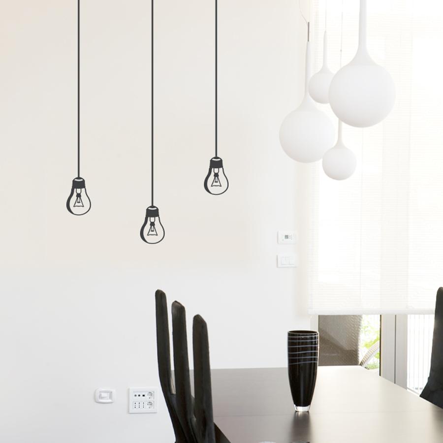 Light bulb wall decal hanging light bulb wall decal aloadofball Choice Image