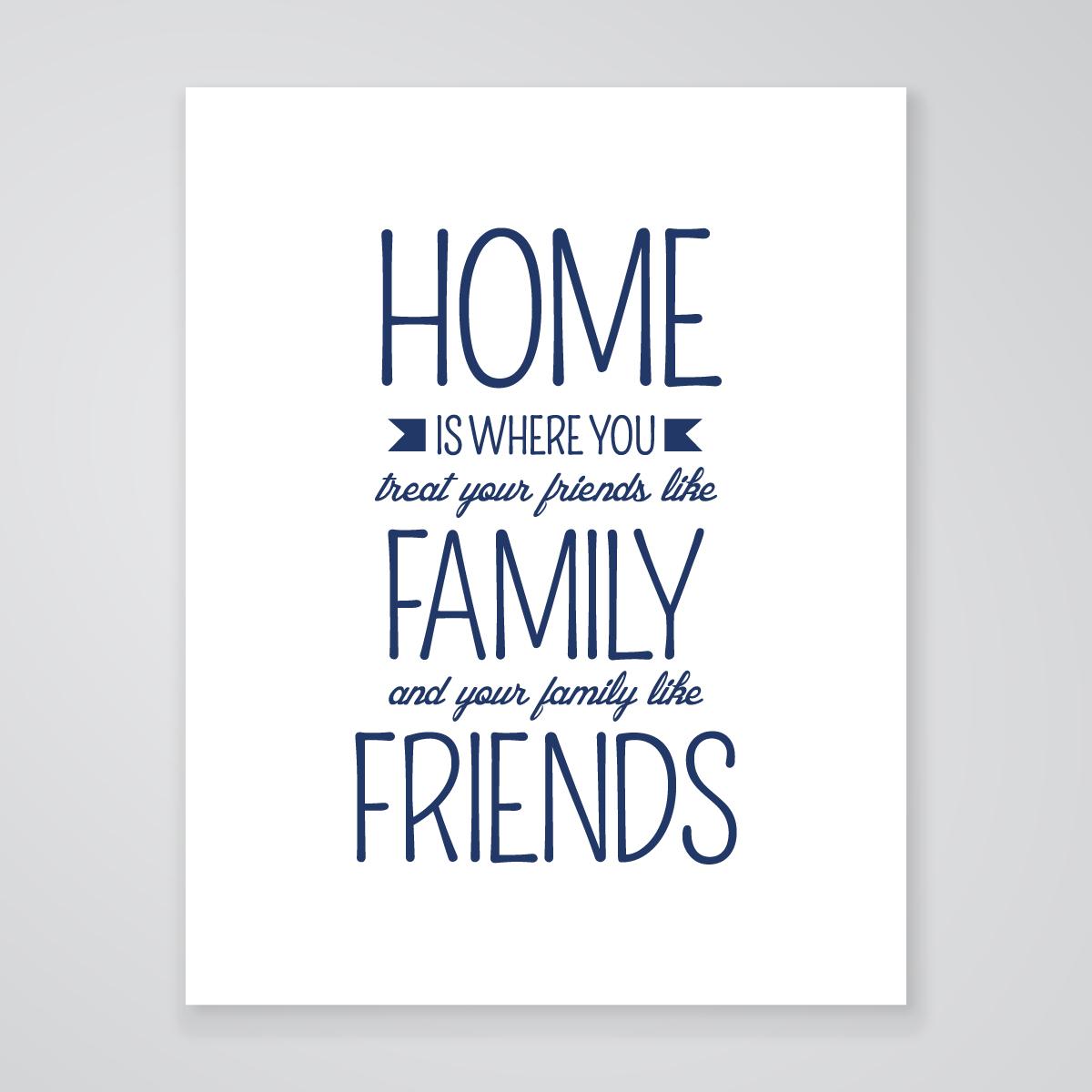 Home Is Where Art Print