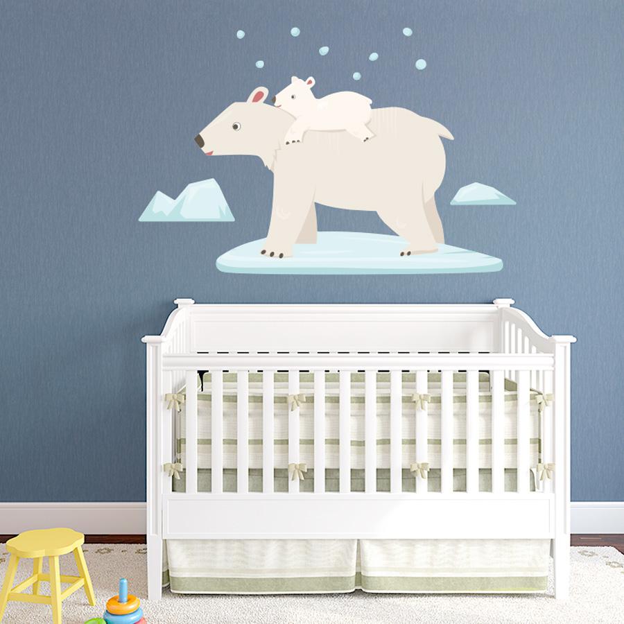 Polar Bears Printed Wall Decal