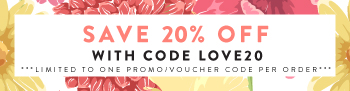 20% off with Code LOVE20
