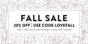 20% off with Code LOVEFALL