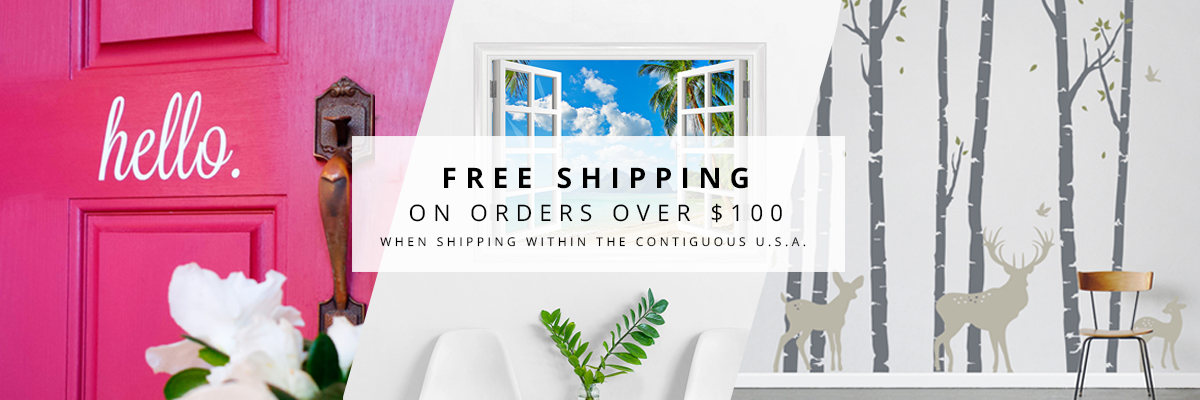 Free Shipping For Orders Over $100. Repositionable Wall Murals ·  Repositionable Printed Wall Decals