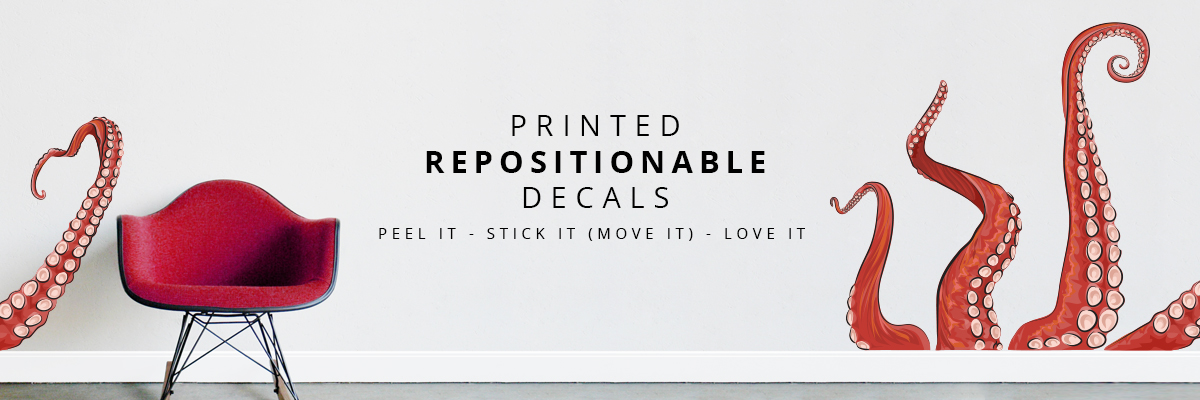 Repositionable Printed Wall Decals