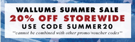 20% off - Wallums Summer Sale