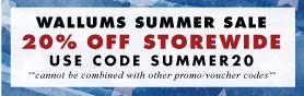 20% off - Wallums Summer Sale