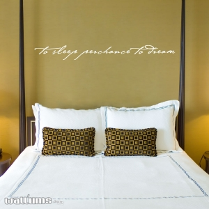 To sleep wall decal